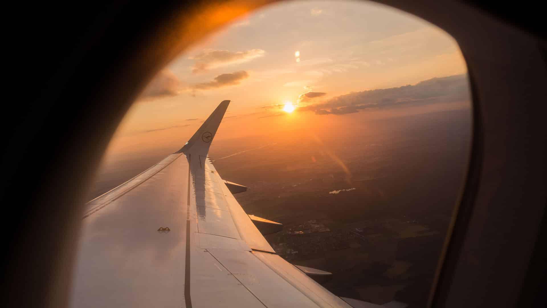 Blick aus dem Fenster Lufthansa